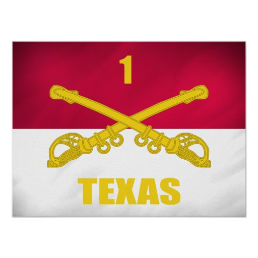 Texas Cavalry Poster
