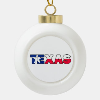 Texas Ceramic Ball Christmas Ornament