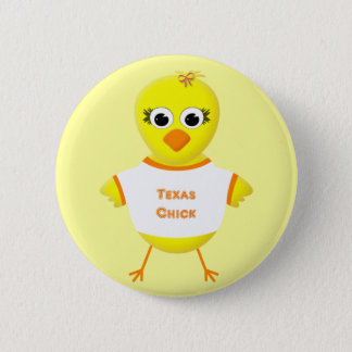 Texas Chick Cute Cartoon Chicken Button