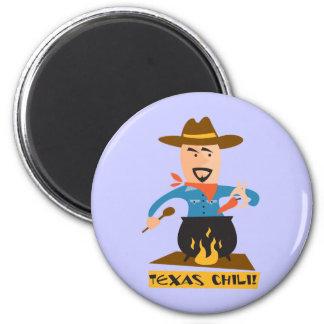 Texas Chili 2 Inch Round Magnet