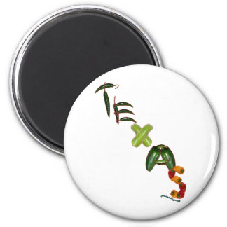Texas Chili Peppers 2 Inch Round Magnet