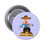 Texas Chili Pinback Buttons