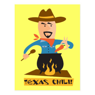 Texas Chili Post Card