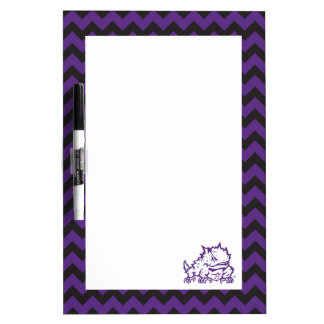Texas Christian University Frog | Chevron Dry-Erase Board