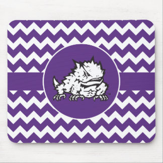 Texas Christian University Frog | Chevron Mouse Pad
