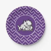 Texas Christian University Frog | Fret Pattern Paper Plate