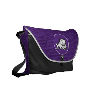 Texas Christian University Frog | Greek Key Courier Bag
