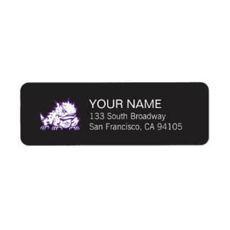 Texas Christian University Frog Label