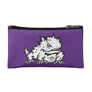 Texas Christian University Frog | Quatrefoil Makeup Bag