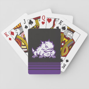 Texas Christian University Frog   Stripes Playing Cards