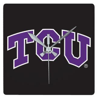 Texas Christian University Square Wall Clock
