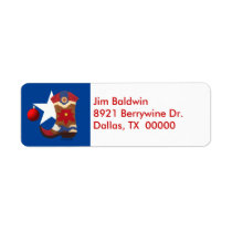 Texas Christmas Address Labels