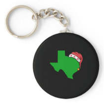 Texas Christmas Cute Christmas Gift Green US State Keychain