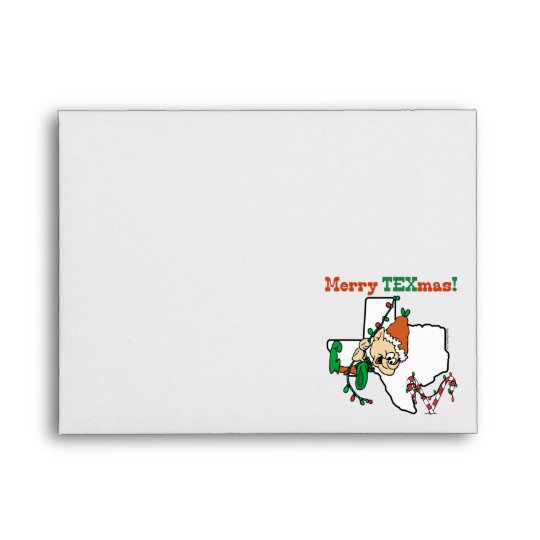 Texas Christmas Envelope