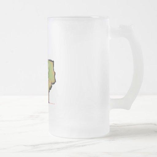 Texas Christmas Frosted Glass Beer Mug