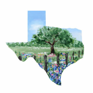 Texas Christmas Ornament Photo Cut Outs