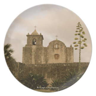 Texas Church-Vintage/sepia Dinner Plate