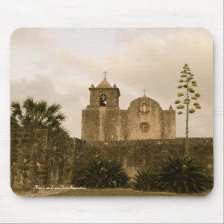 Texas Church-Vintage/sepia Mouse Pad