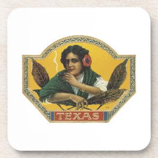Texas Cigar Label Drink Coasters
