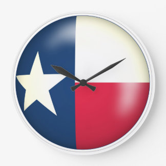 Texas Circle Art 01 Wall Clock