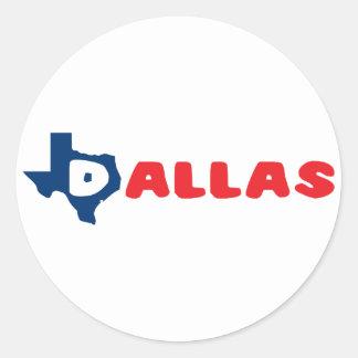 Texas Cites Dallas Stickers