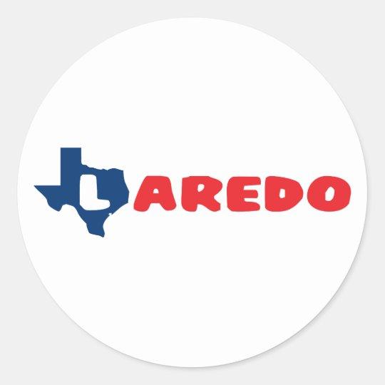 Texas Cites Laredo Classic Round Sticker