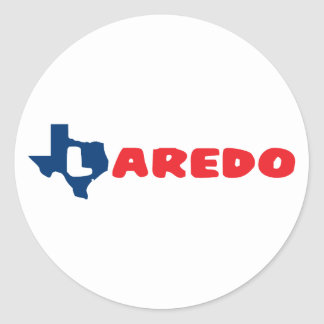 Texas Cites Laredo Round Sticker