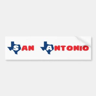 Texas Cites San Antonio Car Bumper Sticker
