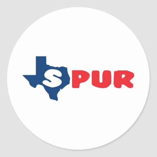 Texas Cites Spur Classic Round Sticker