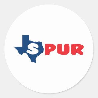 Texas Cites Spur Sticker