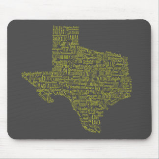 Texas Cities Mouse Pad