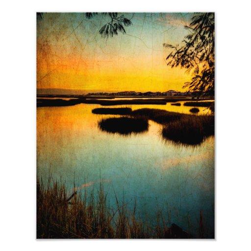 Texas City Sunset Photographic Print