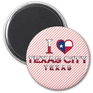 Texas City, Texas 2 Inch Round Magnet