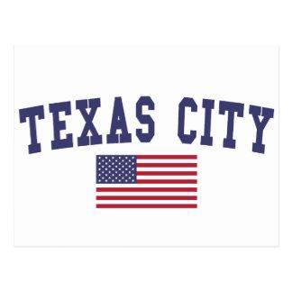 Texas City US Flag Postcard