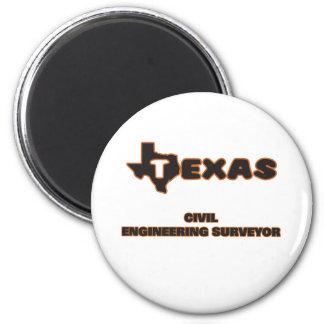 Texas Civil Engineering Surveyor 2 Inch Round Magnet