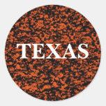 TEXAS CLASSIC ROUND STICKER