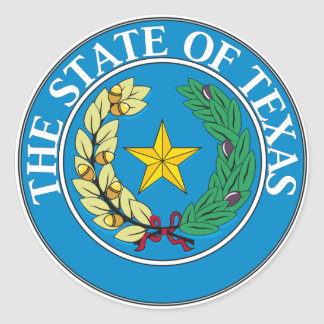Texas Classic Round Sticker