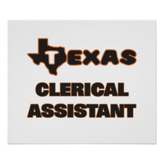 Texas Clerical Assistant Poster