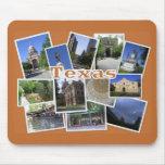 Texas Collage-San Antonio+Austin Mousepads