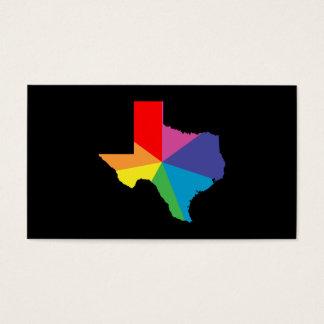 texas color burst business card