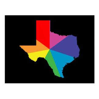 texas color burst postcard