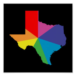 texas color burst poster