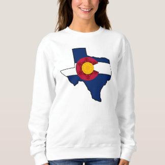 Texas Colorado flag snowflake outline sweatshirt