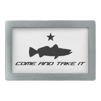 """Texas """"Come and Take It"""" speckled trouser trout. Belt Buckles"""