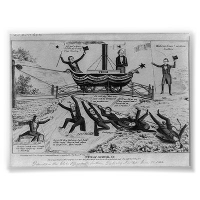 texas annexation. Texas Coming In, 1844 Poster