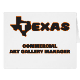 Texas Commercial Art Gallery Manager Large Greeting Card