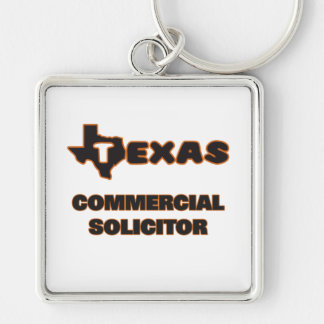 Texas Commercial Solicitor Silver-Colored Square Keychain