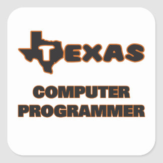 Texas Computer Programmer Square Sticker