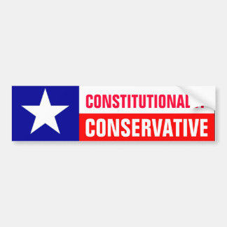 Texas Conservative Bumper Sticker