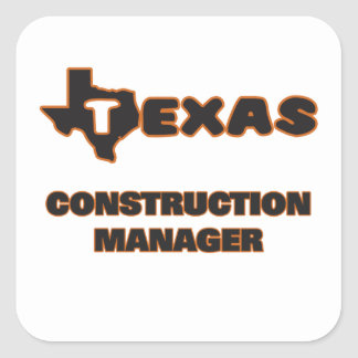 Texas Construction Manager Square Sticker